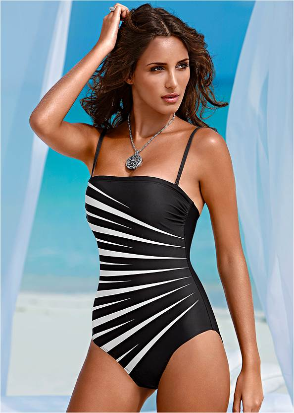 Front view Slenderizing One-Piece