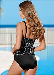 Back view Ruched One-Piece