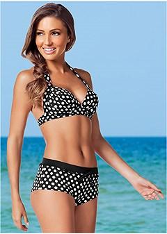 dottie halter bikini top