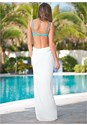 Back view Wrap Maxi Dress