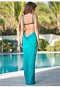 Back view Wrap Maxi Dress