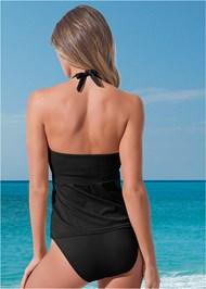 Back view Full Coverage Mid Rise Hipster Bikini Bottom