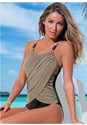 Front view Slimming Draped One-Piece
