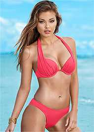 Front View Marilyn Underwire Push Up Halter Top