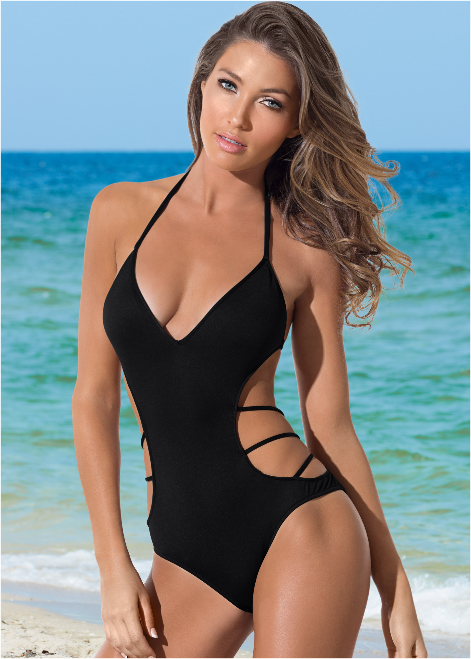 Sexy one piece bathing suits on sale