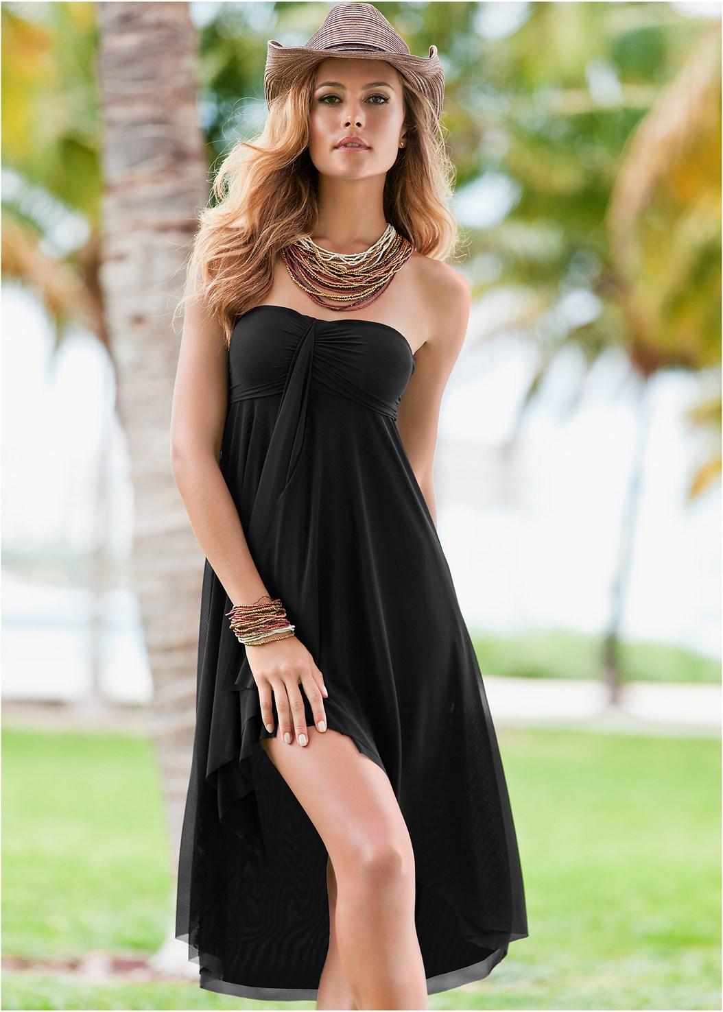 Mesh Dress/Skirt,Goddess Enhancer Push Up Halter Top,Goddess Low Rise Bottom