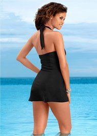 Back view Slimming Swim Dress