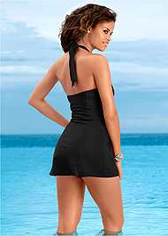 Back view Slimming Swim Dress