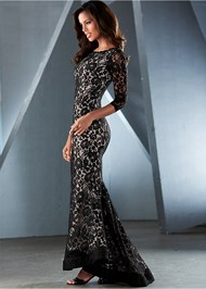 Front view Long Lace Dress
