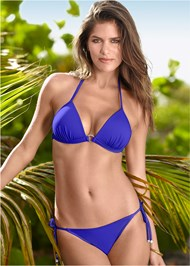 Front view Enhancer Push Up Ring Halter Triangle Top