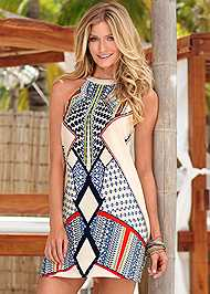 Front view Printed Dress