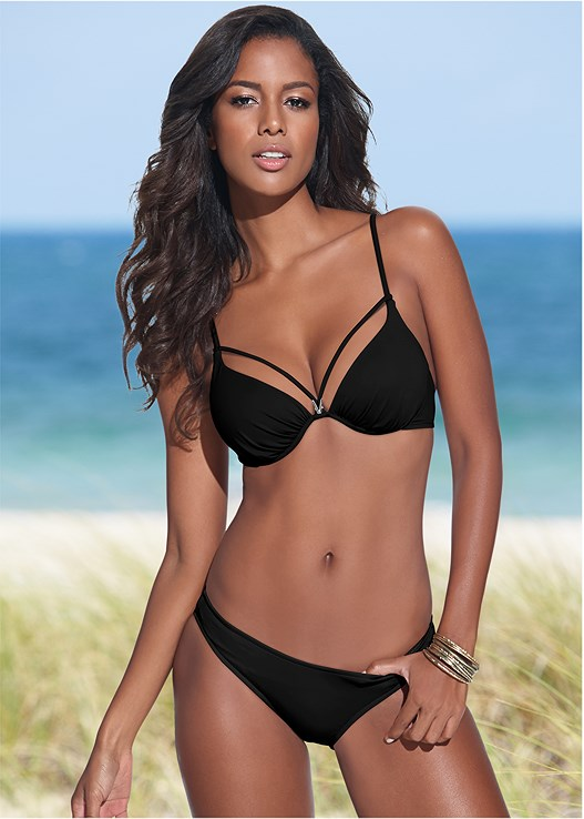 ENHANCING VALENTINA PUSH UP,SCOOP FRONT BIKINI BOTTOM,LOW RISE BIKINI BOTTOM