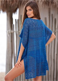 Back view Knitted Stripe Tunic