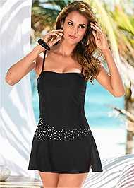 Front view Bandeau Swim Dress