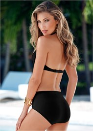 Back view Ruched High Waist Bottom