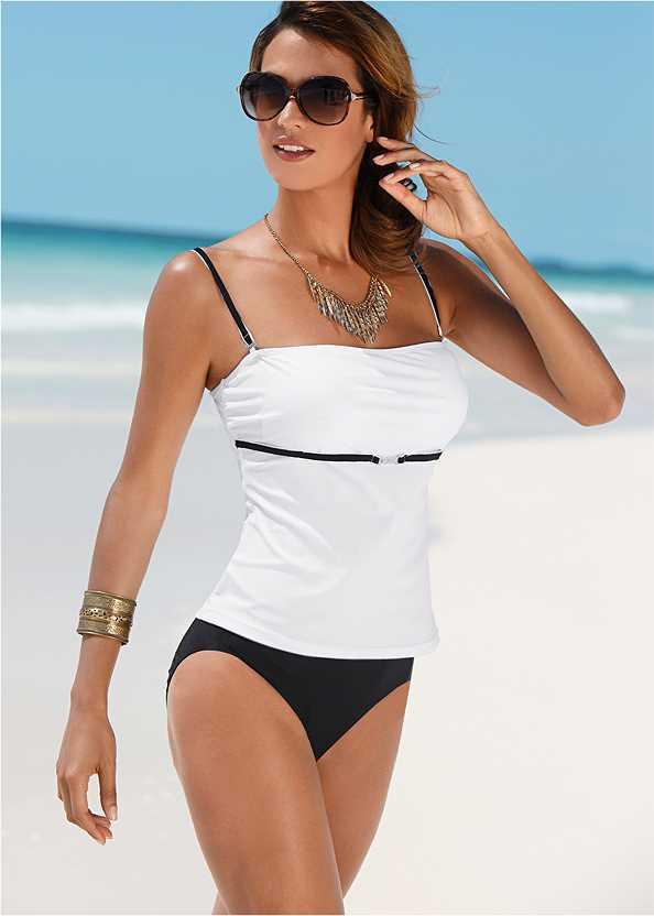 Tankini Top,Low Rise Classic Bikini Bottom ,Scoop Front Classic Bikini Bottom ,Lattice Side Bikini Bottom,Mesh Wrap Skirt