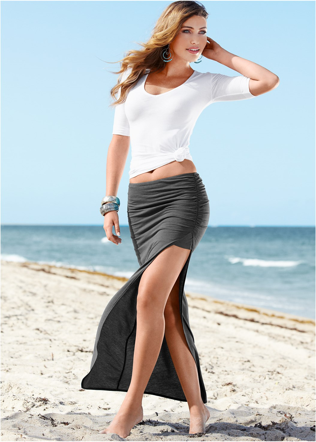 Skirt With High Slit