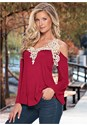 Alternate view Crochet Bell Sleeve Top