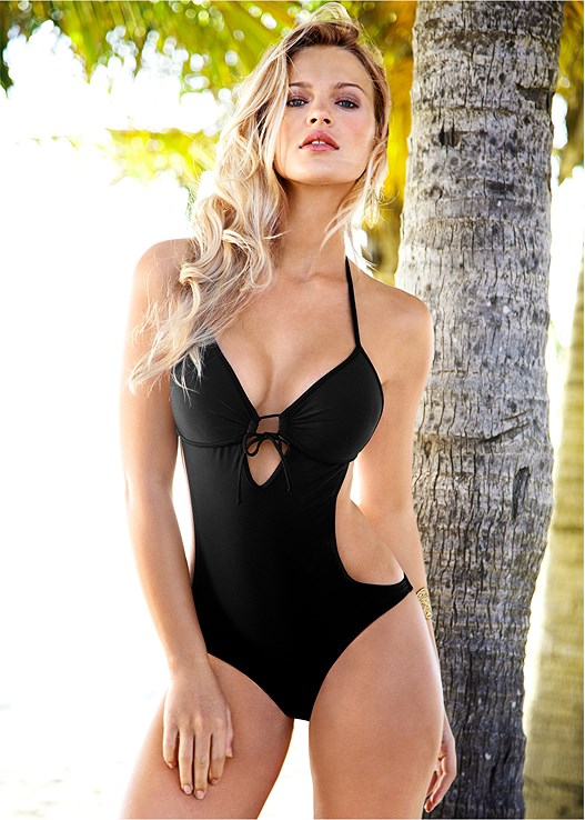417d15e6205b5 SWEETHEART MONOKINI Swimsuit in Black Beauty | VENUS