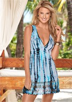 sleeveless v-neck cover-up