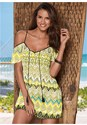 Front view Cold Shoulder Print Cover-U