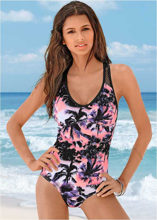 Racerback One-Piece,Off The Shoulder Cover-Up