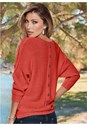 BACK VIEW Button Back Detail Sweater
