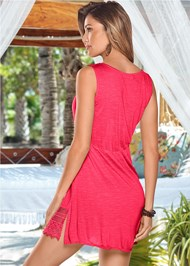Back view Sleeveless V-Neck Cover-Up