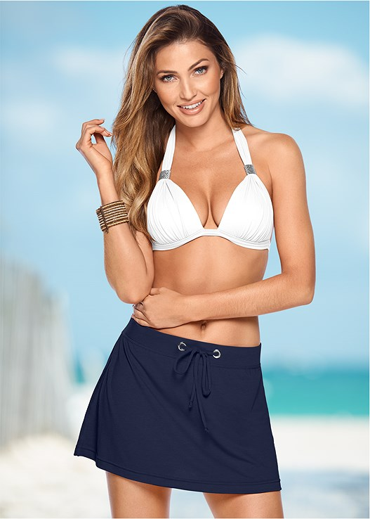 SLIP ON SKIRT,GODDESS ENHANCER PUSH UP,SCOOP FRONT BIKINI BOTTOM
