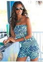 Front view Paisley Print Romper