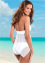 Back view Mesh Sharkbite Tankini Top