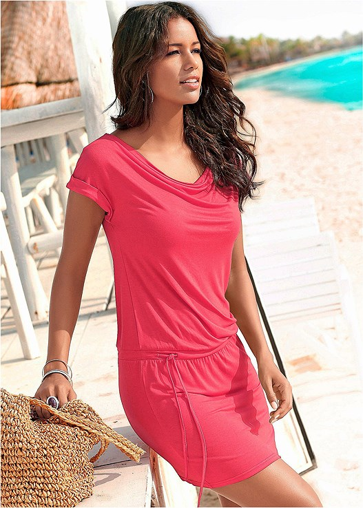 TIE WAIST CASUAL DRESS