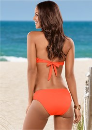 Back view Bold Necklace Bandeau Top