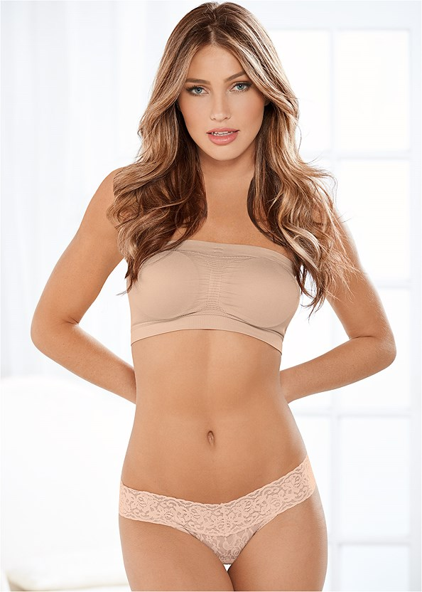Lace Thong 3 For $19,Natural Beauty Lace Bandeau