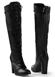 Alternate View Lace Up Tall Boots