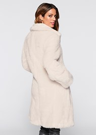 Back view Faux Fur Coat