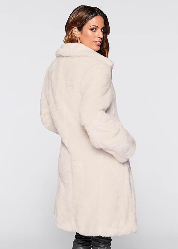 Back view Faux Fur Coat