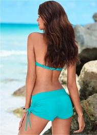 Back view Adjustable Side Swim Short
