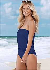 Front view Full Coverage Mid Rise Hipster Bikini Bottom
