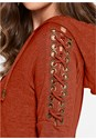 Alternate view Lace Up Shoulder Hoodie