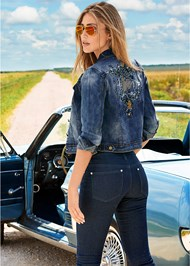 Front view Embellished Jean Jacket
