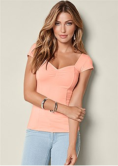 cap sleeve basic top