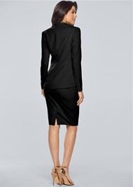 Back View Pencil Skirt Suit Set