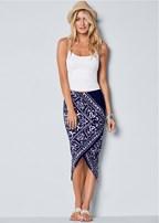 surplice front skirt