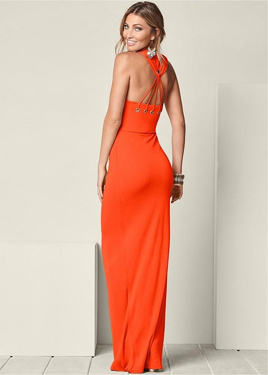 Back Detail Maxi Dress in Orange   VENUS