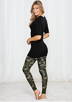 plush sleep leggings