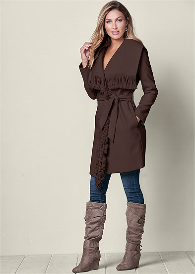 Fringe Detail Outerwear