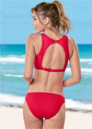 Back view Mesh High Neck Bikini Top