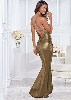 back detail formal dress
