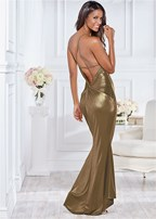 back detail formal dress